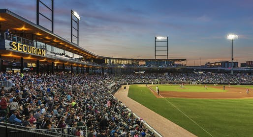 "<a href=""https://archinect.com/firms/project/18743/chs-field/150041387"">CHS Field</a> in St. Paul, MN by <a href=""https://archinect.com/firms/cover/18743/snow-kreilich-architects"">Snow Kreilich Architects</a>"