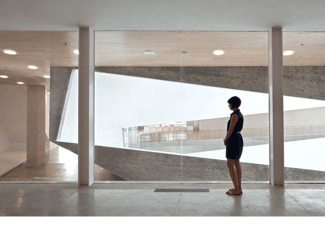 An interior of the Tel Aviv Museum of Art. Credit: Preston Scott Cohen