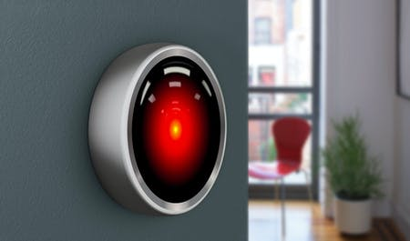 HAL 9000 meets the Nest Thermostat, collage by Archinect