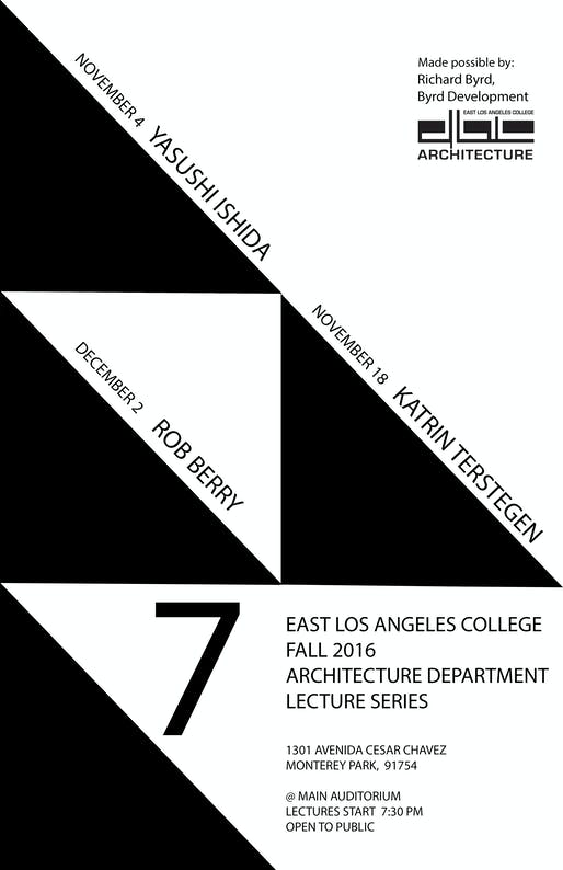 Elac Academic Calendar.Get Lectured East Los Angeles College Fall 16 News Archinect
