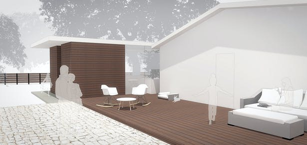 By modifying the deck, we can activate an underutilized outdoors space.