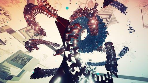Manifold Garden game place screenshot. Image courtesy of Manifold Garden