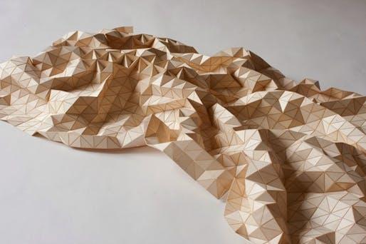 A 'wooden textile' by Elisa Strozyk. (Image via BLDGBLOG)