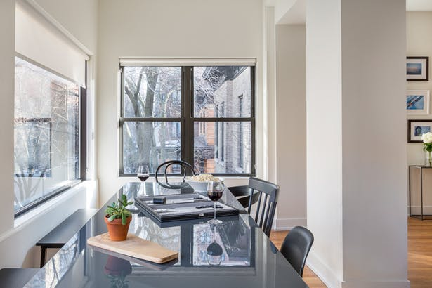 Sunroom shared dining space