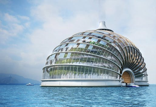 The Ark is a hotel by Russian design firm Remistudio and is meant to be self-sufficient. The transparent foil roof would allow light to reach plants inside, and the waste produced in the building would be converted into fuel. The cupola is meant to be energy-efficient, and its shell basement with...