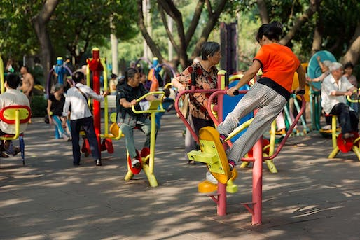 "A public exercise park in Guangzhou, China. Photo <a href=""http://www.cookiesound.com/2012/12/spending-a-quiet-moment-in-the-parks-of-guangzhou-china/"">via</a>"