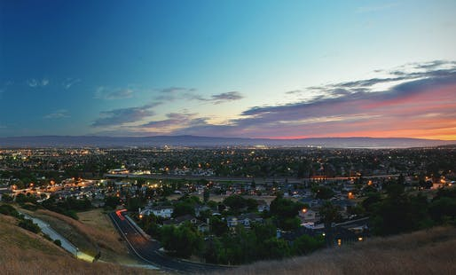 As the sun sets over Silicon Valley, affordable living space further disappears. Image via Wikimedia Commons.