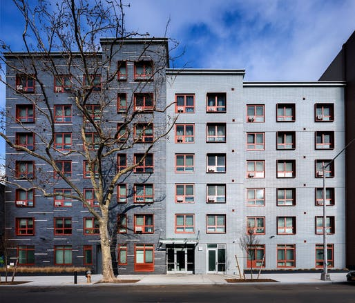 Williamsburg Apartments in Brooklyn. Image courtesy of Curtis + Ginsberg Architects.