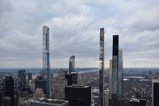 """According to reporting from the <em>NYT</em>, the supertall skyscrapers of New York's Billionaires' Row are operating without final certificates of occupancy. Image: Wikimedia Commons user <a href=""""https://commons.wikimedia.org/wiki/File:Billionaires%27_Row_2020.jpg"""" target=""""_blank"""">Itrytohelp32</a> (CC BY-SA 4.0)."""