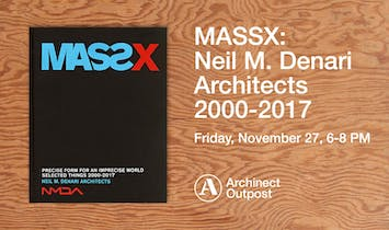 Archinect Outpost to host launch of Neil Denari's highly anticipated new monograph MASSX