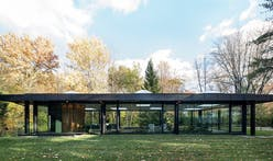 Pavilion inspired by Philip Johnson's Glass House rises in Montréal