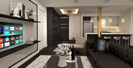 Design proposal for another apartment in the Upper East Side