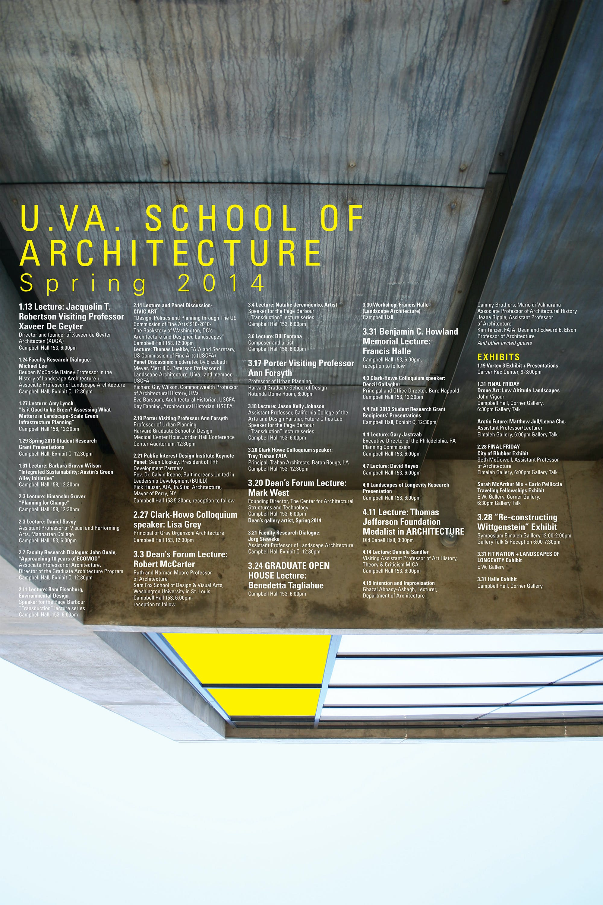Get Lectured: University of Virginia, Spring '14 | News | Archinect