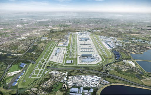 Rendering depicting Heathrow Airport's massive expansion plans. Image courtesy of © Heathrow Airport Limited 2019.