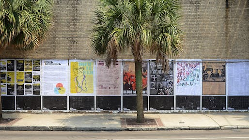 Photo of Colloqate's People's Gallery installation in New Orleans. Image courtesy of Chris Daemmrich.