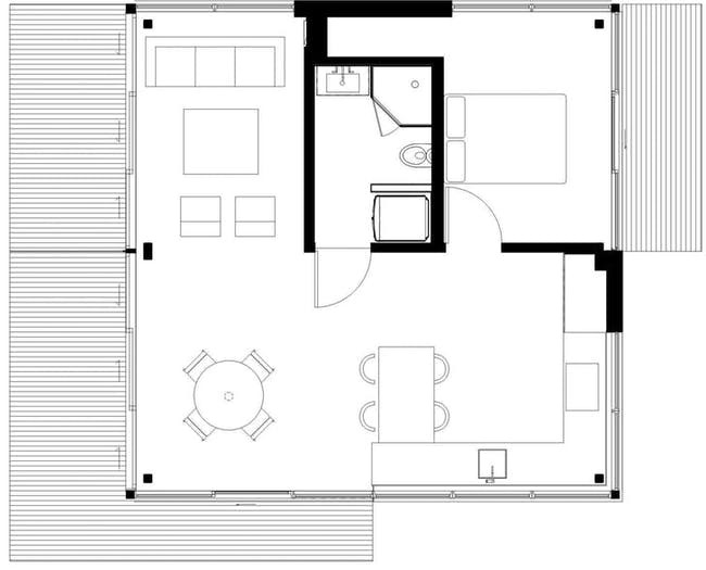 Floor Plan of YB1 at Summit LA18