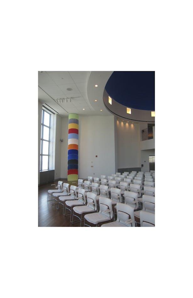 Ron Gorchov- 'Totem' art installation-Ron Gorchov, Totem, 2ort, Support: bronze obelisk,
