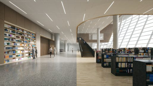 Reading area on floor 3. Image: Schmidt Hammer Lassen Architects.