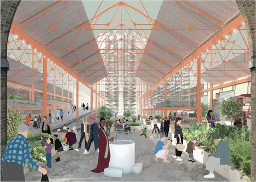 Shown: A rendering for a proposed market hall project in London. Image courtesy of Citizen Magazine.