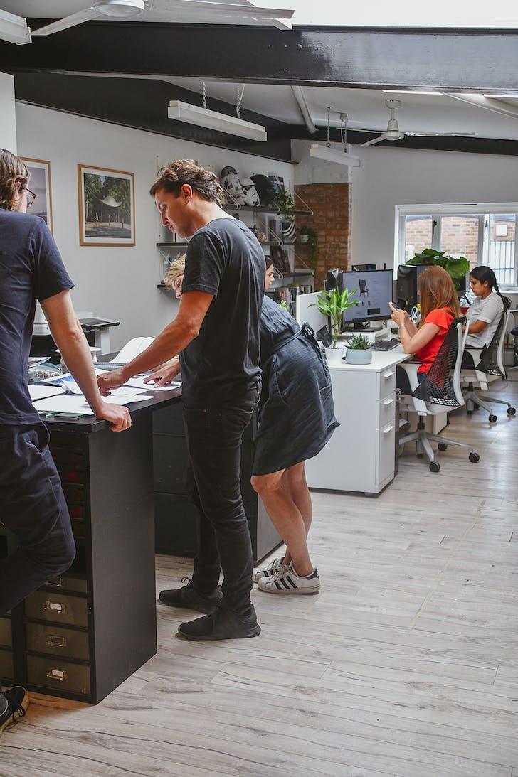 Photo of team at work at Mizzi Studio. © Ellen Hancock