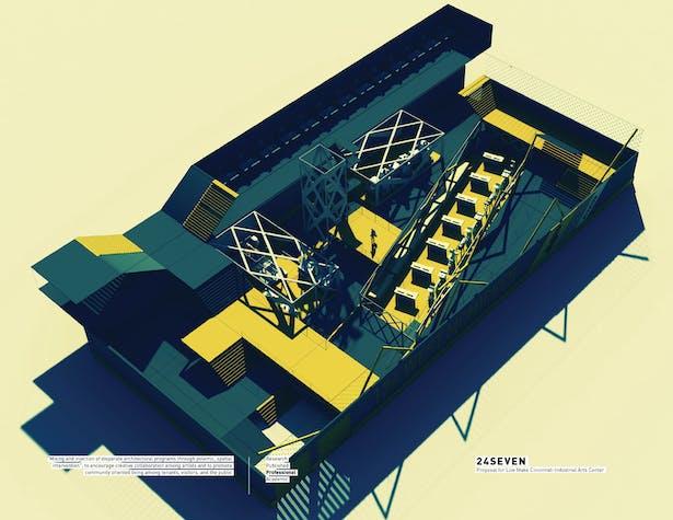 24Seven / Proposal for 'Live-Make' Cincinnati Industrial Arts Center
