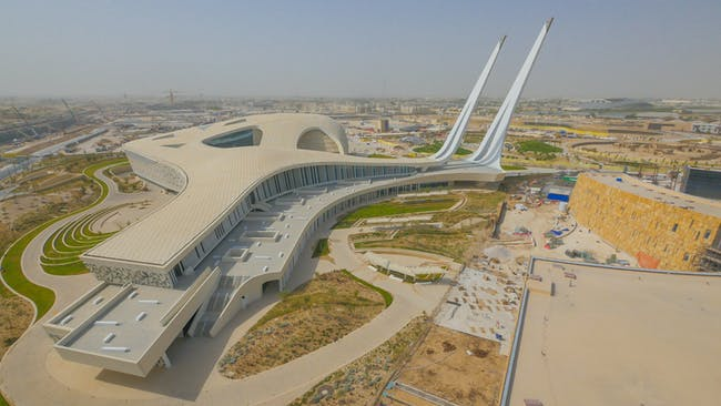 COMPLETED BUILDINGS - Religion winner: Qatar Faculty of Islamic Studies | Qatar. Designed by Mangera Yvars Architects.