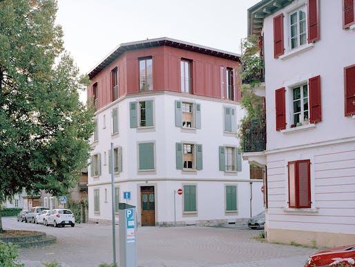 Renovation and elevation of a residential building by Rapin Saiz Architectes. Photo: Joël Tettamanti.