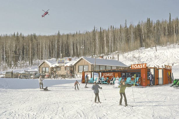 Rendering of Container Bar on Slope