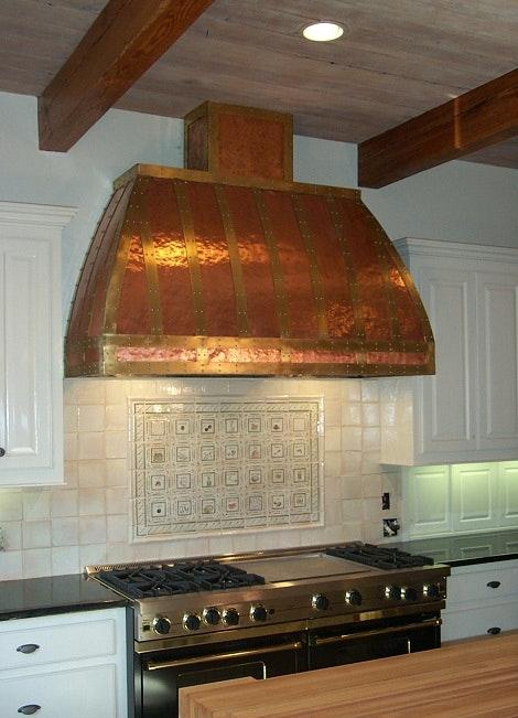 custom copper vent hoods