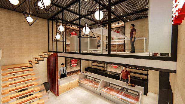 Interior Design Of Meat Shop Muhammad Muhyuddin Archinect