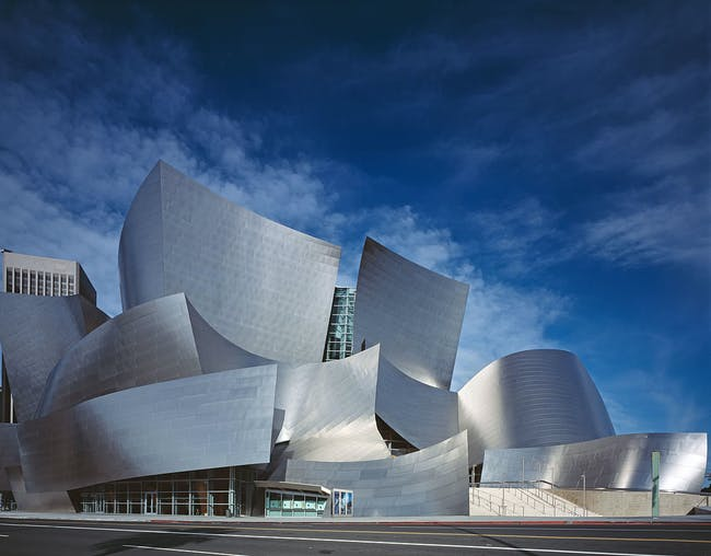 Walt Disney Concert Hall by Frank Gehry. Photo: Carol M. Highsmith via Wikipedia.