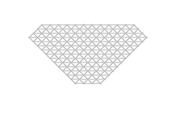 grid shell structure - flat