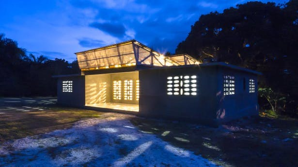 Housing Units Designed by Students, Built by Locals with Available Materials