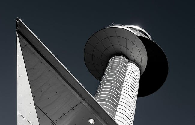Airport Tower at Stockholm-Arlanda Airport, Sweden. (Photo: Carolyn Russo/Smithsonian Books; Image via smithsonianmag.com)