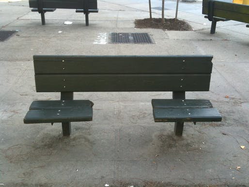 Anti-sleeping bench. Image © Jason Eppink