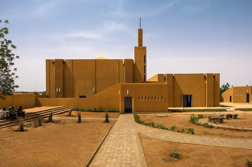 """Atelier Masomi and Studio Chahar, """"Hikma"""" Religious and Secular Complex in Dandaji, Niger, 2018. Courtesy Atelier Masomi. Photo: James Wang From the 2021 individual grant to Adil Dalbai and Livingstone Mukasa for """"Africa Architecture Network"""""""