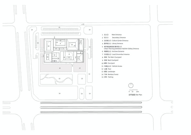 The site plan ©Studio Zhu-Pei