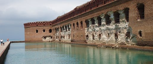 View of Dry Tortugas National Park, where investments to repair historic Fort Jefferson are informed by climate change considerations. Image courtesy of National Park Service / Marcy Rockman.