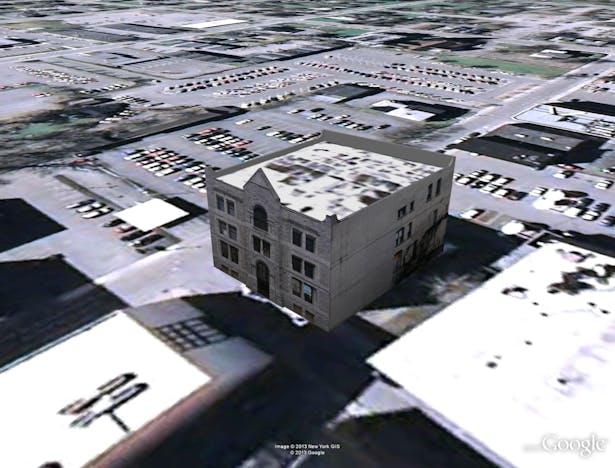 Post Office - Google Model by J. F. Bautista. Watertown, NY