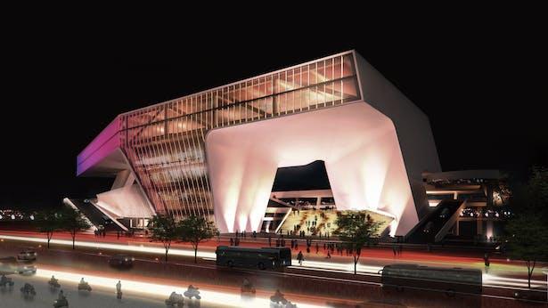 (JET+CXT+Archasia) Kaoshiung Port Services Centre Night View