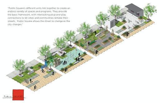 'Public Square' by FXFOWLE & Sam Schwartz Engineering.