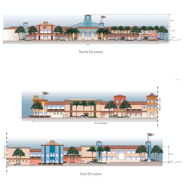 Cabo Paradise Condominium - North & East Elevations