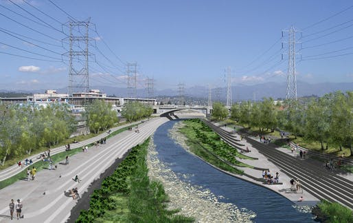 Rendering from the 2007 Los Angeles River Revitalization Master Plan. (Image via thenation.com)
