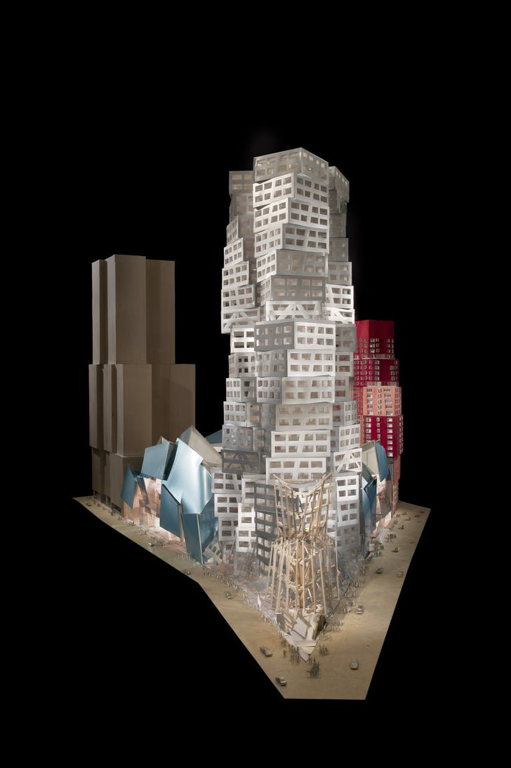 A model of Frank Gehry's designs for Atlantic Yards. Image credit: Gehry Partners