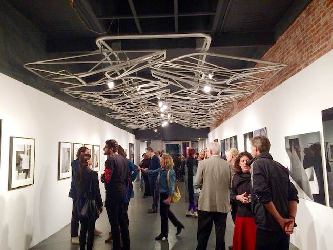 The crowd slowly trickled in on opening night at the WUHO Gallery. Photo: Justine Testado