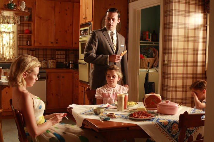 The Draper family kitchen from TV series 'Mad Men'. Credit: Photo by Thanassi Karageorgiou © Museum of the Moving Image