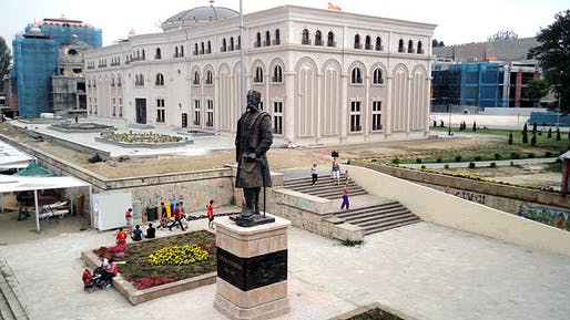 Built in 2011, the Museum of Macedonian Struggle cost more than €16 million, according to BIRN. Photo: Tiveropolnik/Wikipedia.