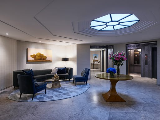 The new lobby of the Wardman Tower in Washington D.C. Photo credit: Wardman Tower.