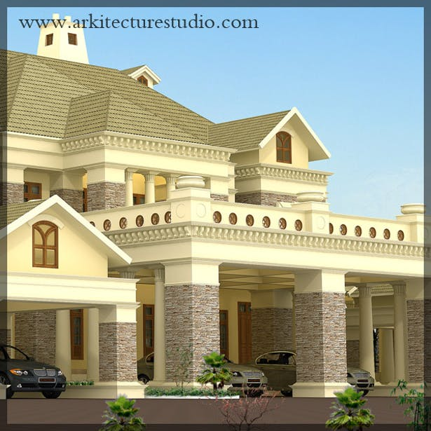 Colonial Style Luxury Kerala Home Design _leading