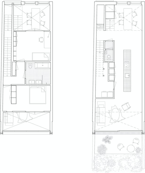 Plans lower apartment